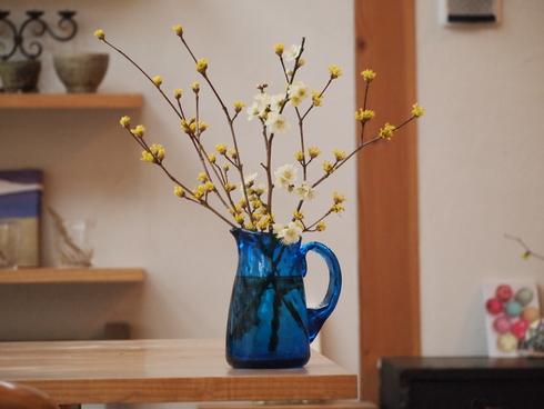 倉敷ガラスと庭の花_d0145345_14944.jpg