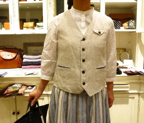 LINAS リネンのギャザースカートがすてき!_c0227633_13154442.jpg