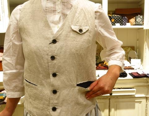 LINAS リネンのギャザースカートがすてき!_c0227633_1316560.jpg