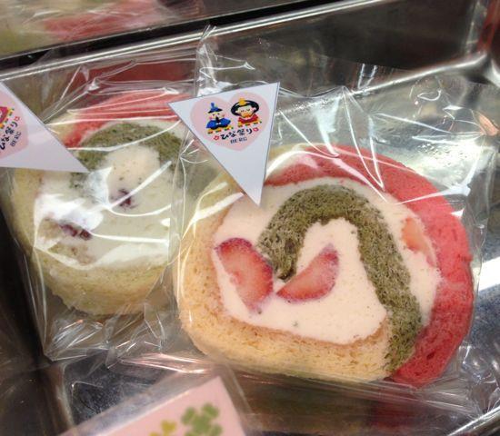 ひな祭りベルク♪3ひな祭り3色ロールケーキにハートイチゴの3色ババロア♪ひなあられも♪限定品です♪_c0069047_17404886.jpg