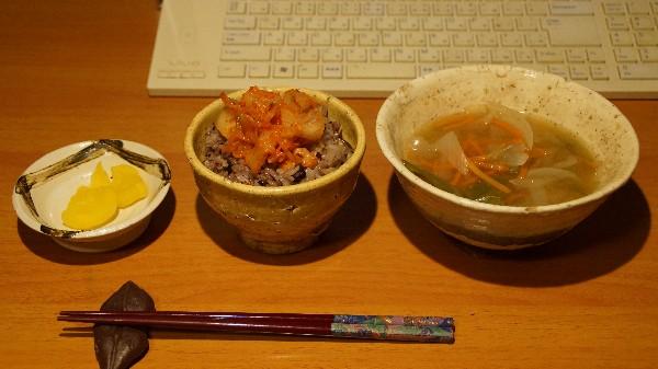 夕飯は味噌汁_e0166355_19333953.jpg
