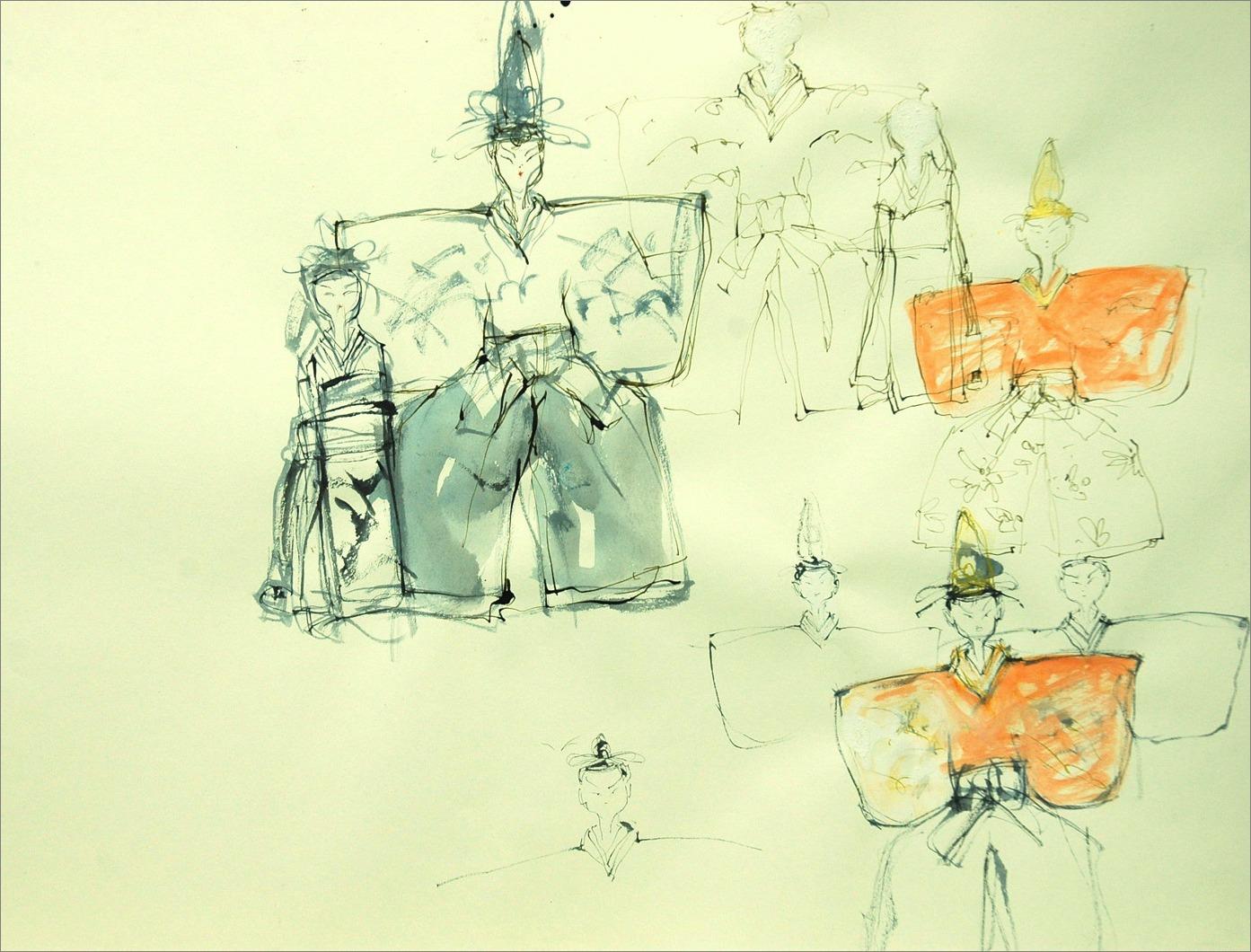 《 illustration 「雛 飾る。」 》_f0159856_7172370.jpg