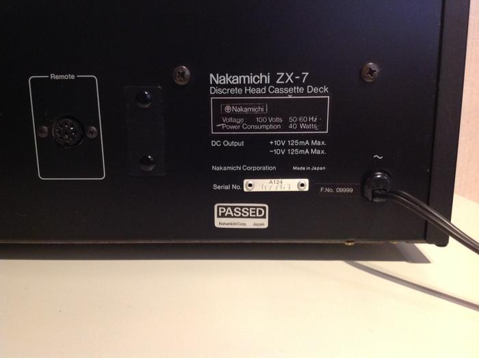 Nakamichi ZX-7 used 処分特別価格  _b0292692_15225379.jpg