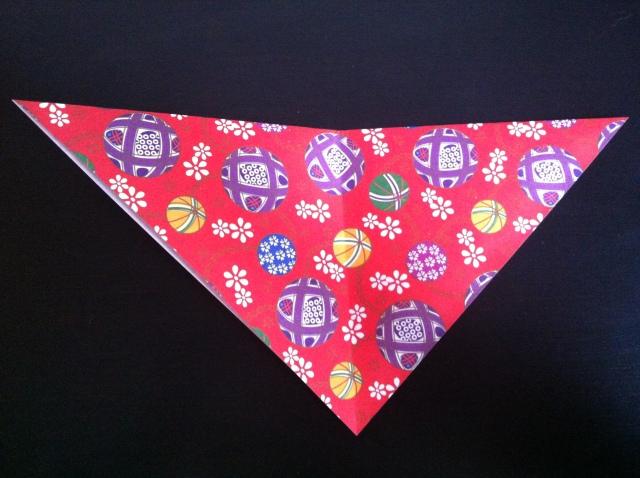 折り紙で雛人形 -女雛- ✿ Origami Ⅻ ①_b0246303_22393759.jpg