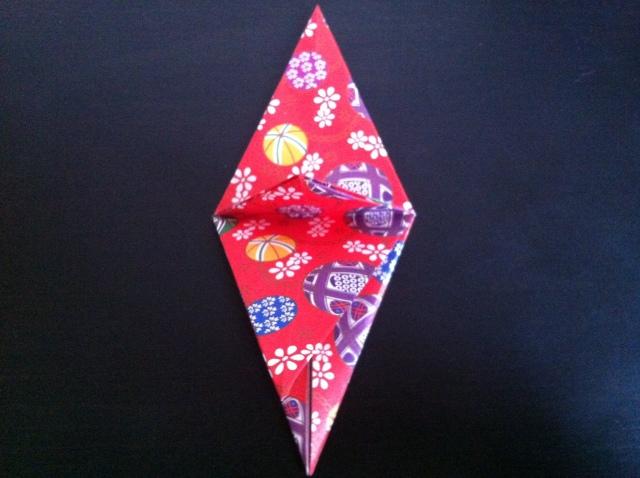 折り紙で雛人形 -女雛- ✿ Origami Ⅻ ①_b0246303_22445478.jpg