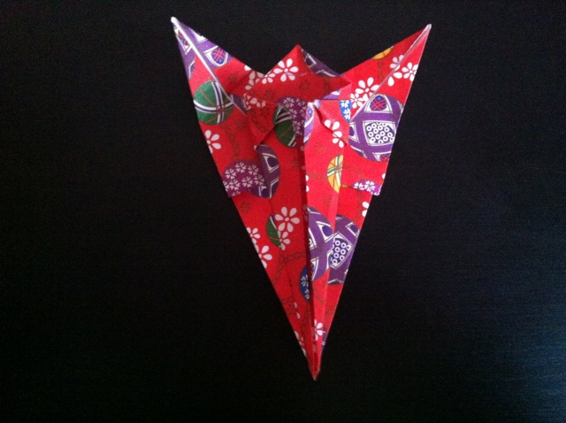 折り紙で雛人形 -女雛- ✿ Origami Ⅻ ①_b0246303_23390791.jpg