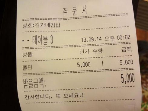 9月 ソウル旅行 その13 明洞 キムガネさんで念願のチョル麺♪_f0054260_875199.jpg