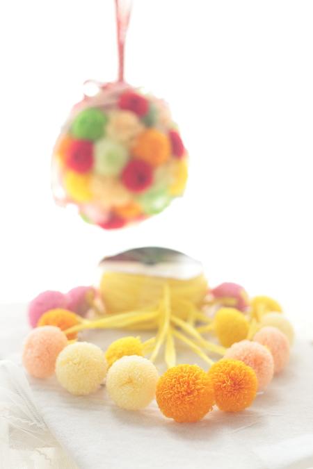 和装のボールブーケ 八芳園様へ 和風プルズブーケの演出_a0042928_22255898.jpg