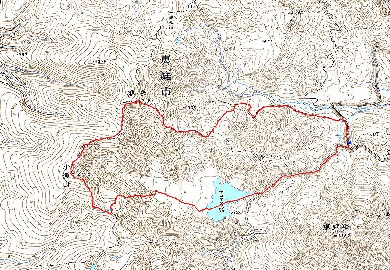 漁岳と小漁山を登ってオコタンペ湖へ、3月2日-速報版-_f0138096_17271836.jpg