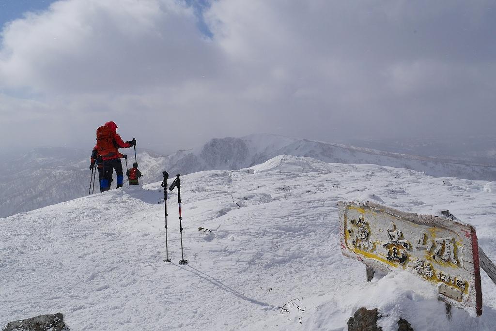 漁岳と小漁山を登ってオコタンペ湖へ、3月2日-その1-_f0138096_2218137.jpg