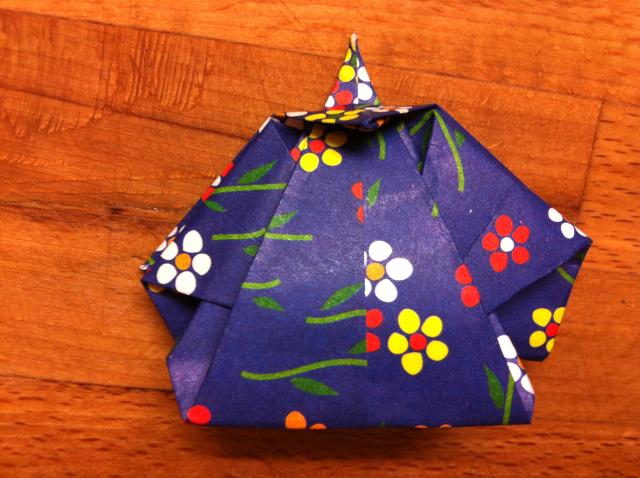 折り紙で雛人形 - 男雛 -✿ Origami Ⅻ ②_b0246303_08422955.jpg