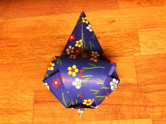 折り紙で雛人形 - 男雛 -✿ Origami Ⅻ ②_b0246303_08564861.jpg