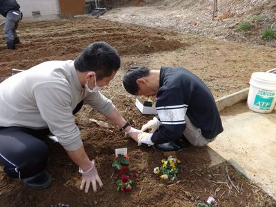 2/28  花植え ✿ クッキー作り_a0154110_1082157.jpg