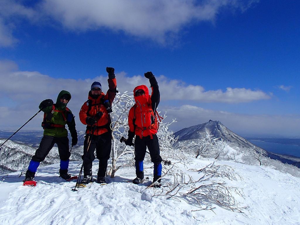漁岳と小漁山を登ってオコタンペ湖へ、3月2日-その2-_f0138096_14314531.jpg