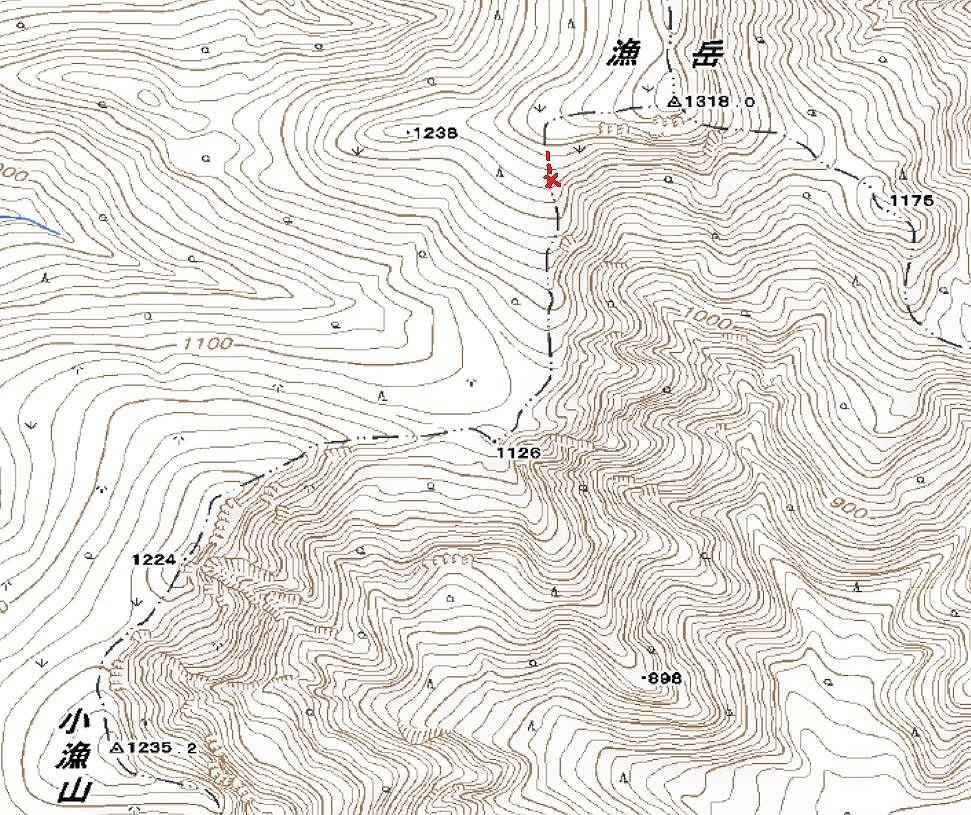 漁岳と小漁山を登ってオコタンペ湖へ、3月2日-その2-_f0138096_14322451.jpg