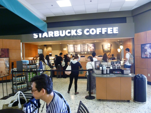 ホノルル空港のSTARBUCKS COFFEE_c0152767_2229241.jpg