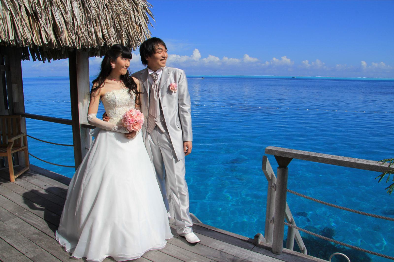 新郎新婦様からのメール 海外ウェディングのブーケ タヒチ、太平洋の真珠に1_a0042928_19453716.jpg