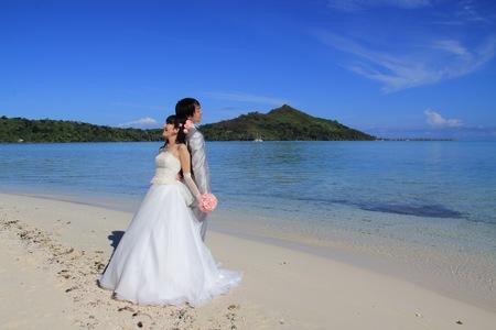 新郎新婦様からのメール 海外ウェディングのブーケ タヒチ、太平洋の真珠に1_a0042928_19465597.jpg