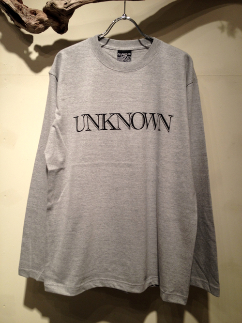 "L/S Tee ""UNKNOWN\""_f0126931_17422112.jpg"