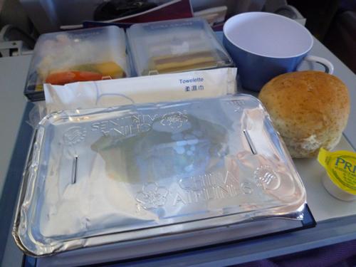 CHINA AIRLINES ホノルル→成田便の機内食_c0152767_1424585.jpg