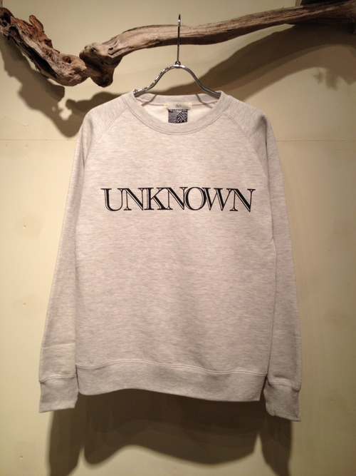 "L/S CREW NECK SWEAT ""UNKNOWN\""_c0127070_19343960.jpg"