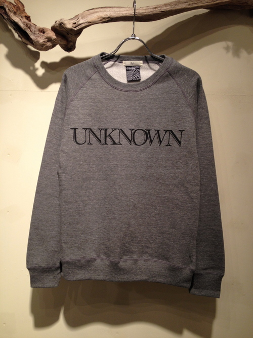 "L/S CREW NECK SWEAT ""UNKNOWN\""_c0127070_1934411.jpg"