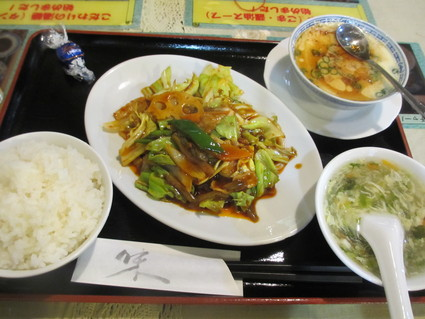 ホイコーローと茶碗蒸し@上海楼(武蔵境)_c0212604_20364728.jpg