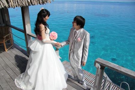 新郎新婦様からのメール 花のネックレス、花のイヤリング 太平洋の真珠へ2_a0042928_21331452.jpg