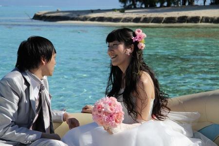新郎新婦様からのメール 花のネックレス、花のイヤリング 太平洋の真珠へ2_a0042928_21333142.jpg