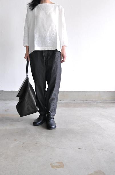 jujudhau/ズーズーダウ BOAT NECK(SILK WHITE)<br />