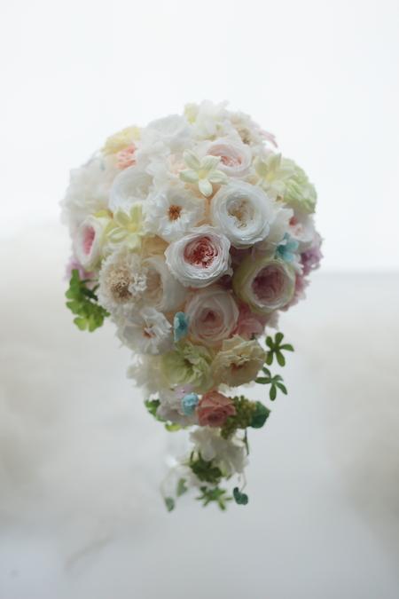プリザーブドフラワーのブーケ 八芳園様へ 砂糖菓子_a0042928_1925537.jpg