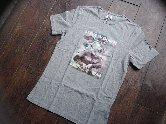 NEW : Barbour [The Steve McQueen™ Collection] [McQueen TEE-SHIRT] !!_a0132147_2114262.jpg