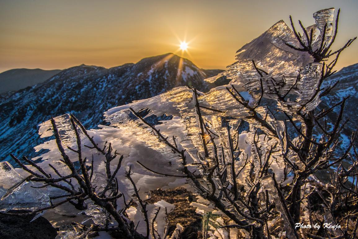 厳冬見納めの九重朝駆け。_a0097006_22401253.jpg