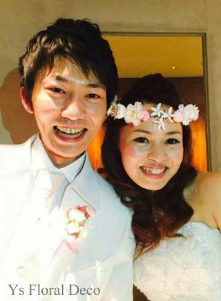 あわい色の花冠&リストレット 大阪へ_b0113510_1544487.jpg