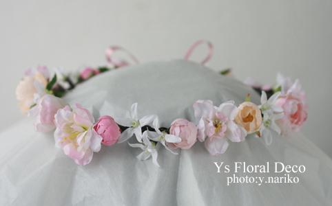 あわい色の花冠&リストレット 大阪へ_b0113510_1545090.jpg