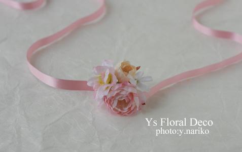 あわい色の花冠&リストレット 大阪へ_b0113510_1545546.jpg