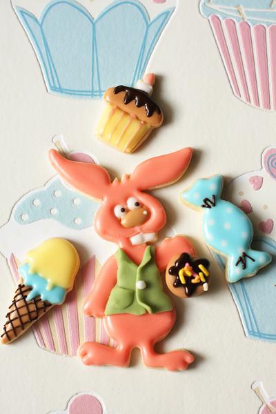 アイシングクッキー春のおめかし動物達_f0149855_1930106.jpg