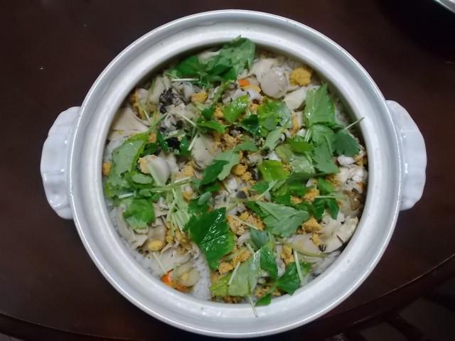 いちご煮の炊き込みご飯_f0019498_1459558.jpg