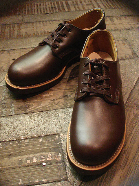 "NEW : REDWING [FOREMAN] Chocolate ""Chrome\"" & [WORK OXFORD] Hawthorn \""Abilene\"" Roughout !!_a0132147_0235275.jpg"