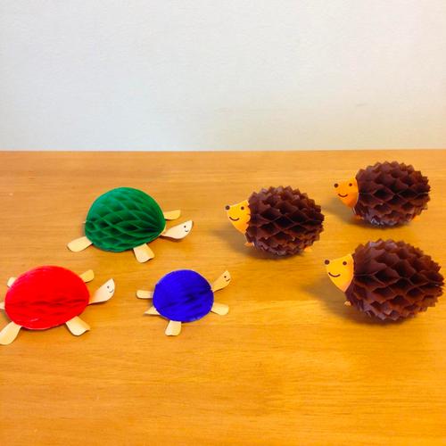 【3/26】curious craft café「ハニカムペーパーでつくる動物チャーム②」_a0121669_15593598.jpg