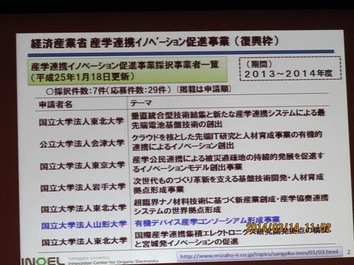 有機エレクトロニクス シンポジュウム in 米沢 2014(4)_c0075701_18222814.jpg