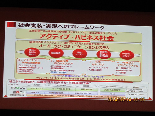 有機エレクトロニクス シンポジュウム in 米沢 2014(4)_c0075701_18295524.jpg