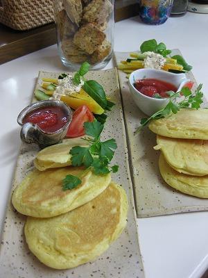 パンケ-キの朝食♪_f0116812_14421461.jpg