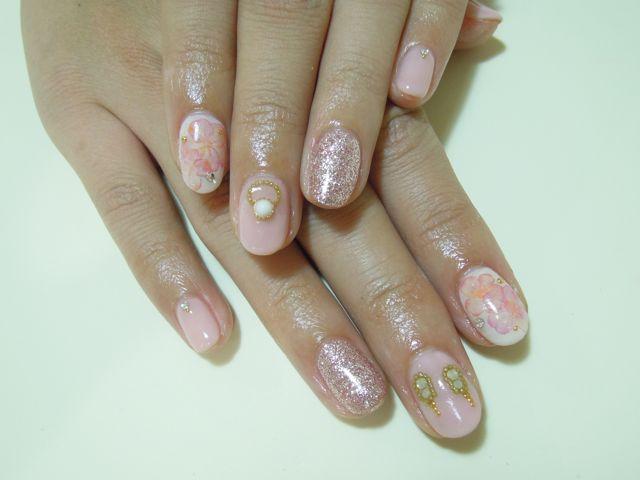 Pink Flower Nail_a0239065_9591390.jpg