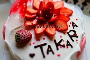 久しぶりにBDケーキ作りました。_a0183571_17275570.jpg