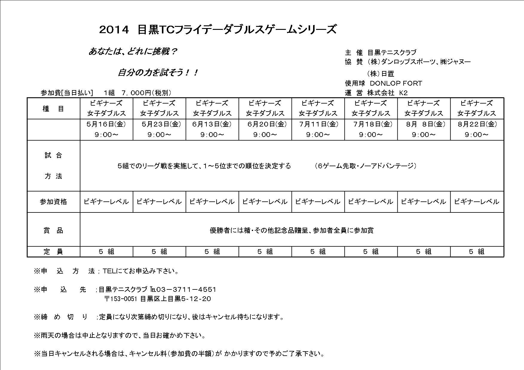 2014 5月~8月フライデーダブルストーナメント_b0158200_14272661.jpg