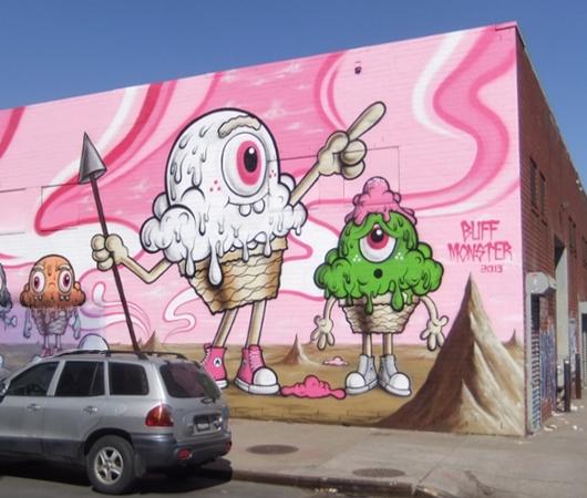 ブルックリンのウィリアムズバーグで見かけた街角アート_b0007805_9371348.jpg