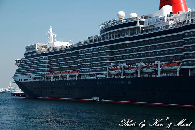 英 豪華客船 「クイーン・エリザベス3世」 横浜初寄港♪_e0218518_2254072.jpg