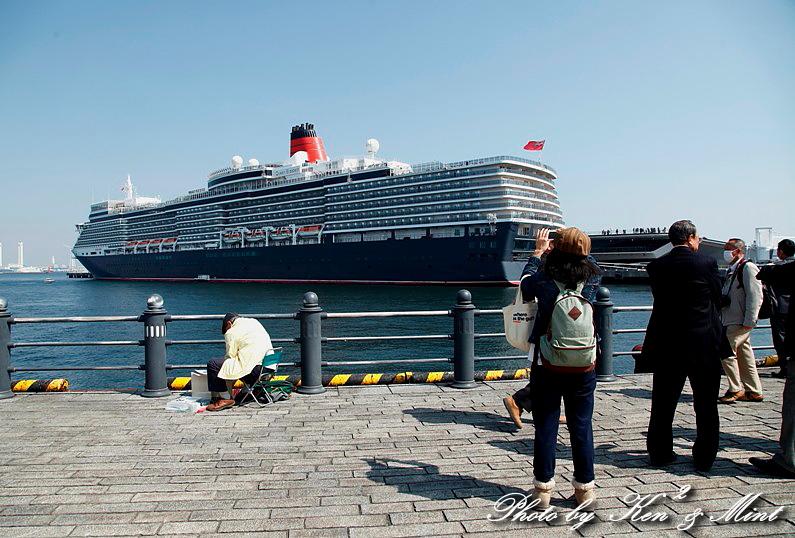 英 豪華客船 「クイーン・エリザベス3世」 横浜初寄港♪_e0218518_2254895.jpg