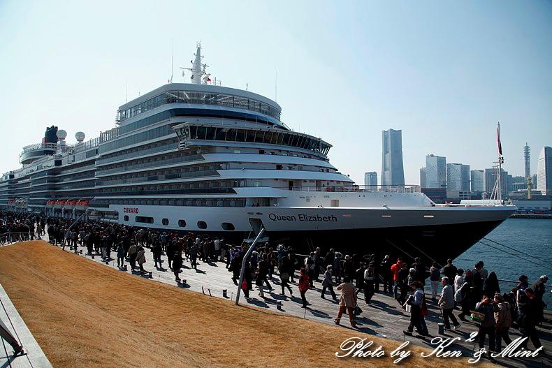 英 豪華客船 「クイーン・エリザベス3世」 横浜初寄港♪_e0218518_2261894.jpg
